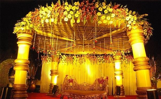 Anandee home banquet noida wedding stage