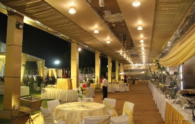 Lily white hotel chattarpur banquet hall